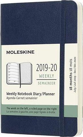 MOLESKINE Kalendarz 2019/20 tygodniowy 18MP sapphire blue