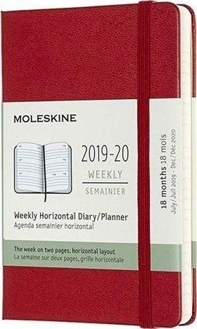 MOLESKINE Kalendarz 2019/20 tyg.18MP tw. red horyzont.