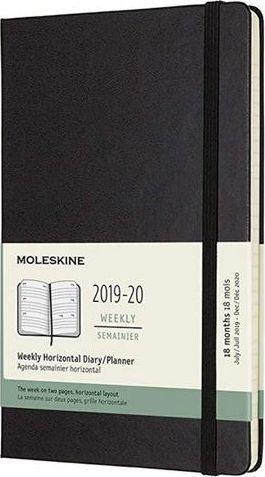 MOLESKINE Kalendarz 2019/20 tyg. 18ML tw. czarny horyzont.