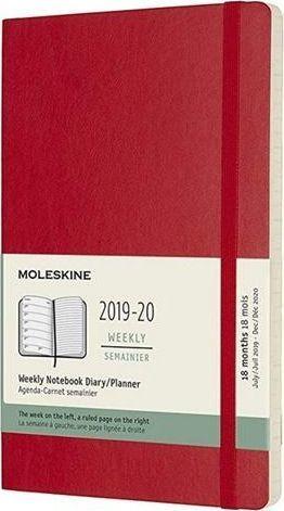MOLESKINE Kalendarz 2019/20 tygodniowy 18ML scarlet red