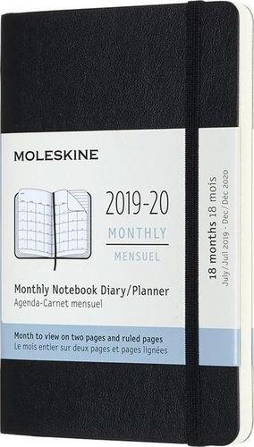 MOLESKINE Kalendarz 2019/20 miesięczny 18MP czarny