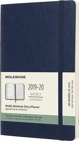 MOLESKINE Kalendarz 2019/20 tygodniowy 18ML sapphire blue