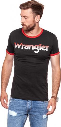 Wrangler Koszulka męska Logo Ringer Tee Faded Black r. XXL (W7B68FQV6)