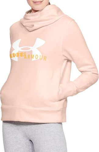 Under Armour Bluza damska Rival Fleece Logo Hoodie różowa r. L (1321185-805)