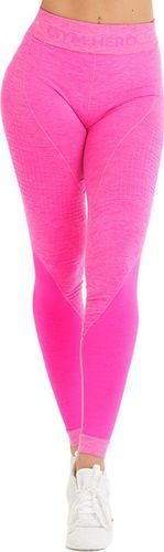 GymHero Legginsy damskie Neon Pink różowe r. M