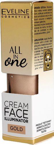 Eveline Eveline All in One Kremowy Rozświetlacz w płynie Gold  8ml