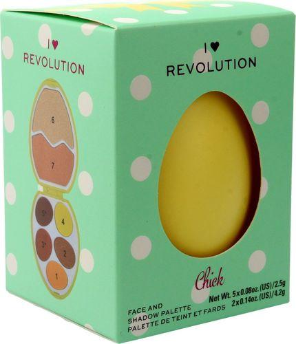Makeup Revolution I Heart Revolution Easter Egg Zestaw do makijażu (cienie+rozświetlacze) Chick 1szt
