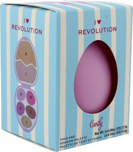 Makeup Revolution I Heart Revolution Easter Egg Zestaw do makijażu (cienie+rozświetlacze) Candy 1szt