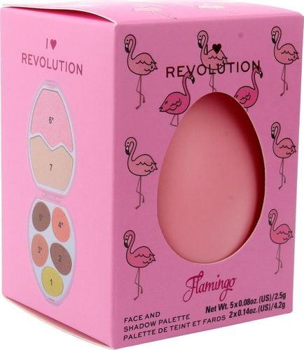 Makeup Revolution I Heart Revolution Easter Egg Zestaw do makijażu (cienie+rozświetlacze) Flamingo 1szt