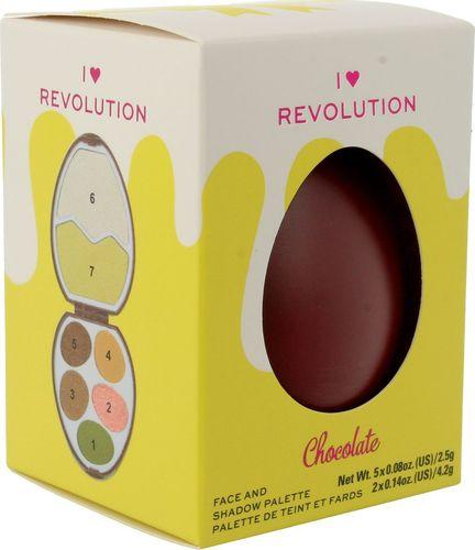 Makeup Revolution I Heart Revolution Easter Egg Zestaw do makijażu (cienie+rozświetlacze) Chocolate 1szt