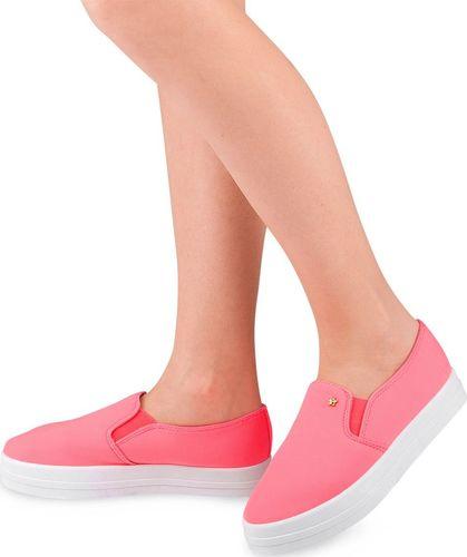 IDEAL SHOES Tenisówki damskie Ideal Shoes X-2501 Różowe 41
