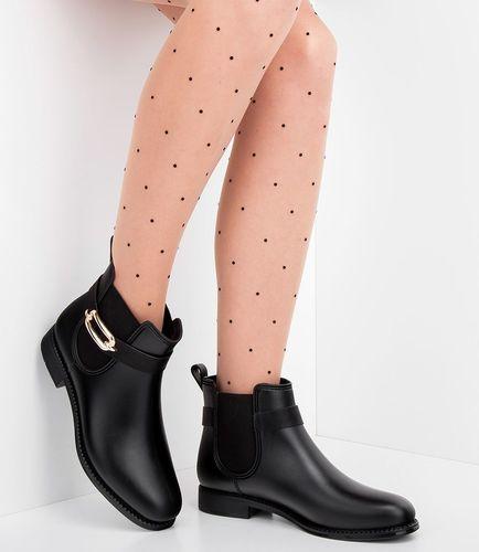 IDEAL SHOES Kalosze damskie Ideal Shoes F-2889 Czarne 38