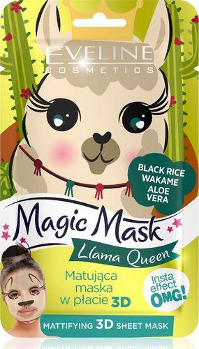 Eveline Eveline Magic Mask Matująca Maska w płacie 3D Llama Queen  1szt