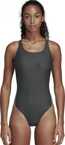 Adidas Strój kąpielowy Fit Suit 3S zielony r. 38 (DQ3330)