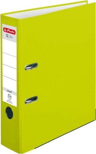 Segregator Herlitz Segregator A4 8 cm PP neon zielony Q file