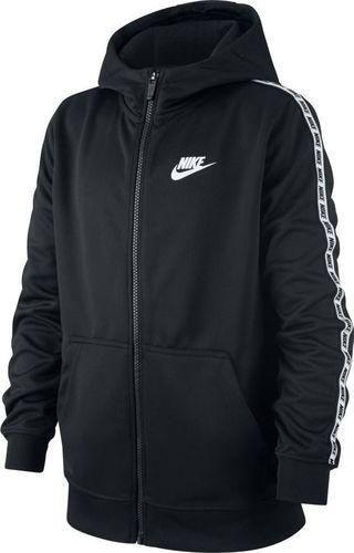 Nike Bluza dziecięca B Nsw Repeat Fz Poly Hood czarna r. S (AV8387-010)