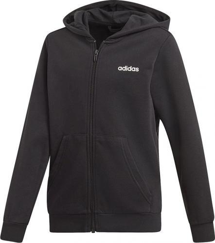 Adidas Bluza dziecięca YB E LIN FZ HD czarna r. 128 cm (DV1792)