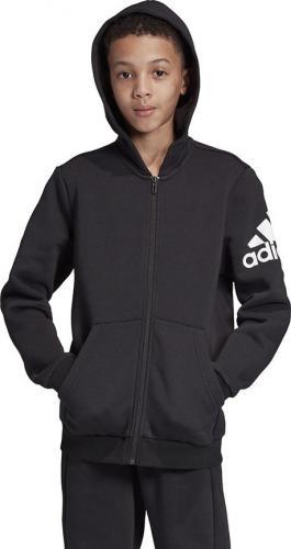 Adidas Bluza dziecięca YB MH FZ FL czarna r. 140 cm (ED6481)