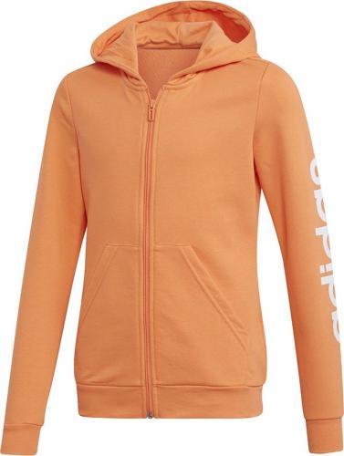 Adidas Bluza dziecięca YG E LIN FZ HD pomarańczowa r. 152 cm (FH6615)