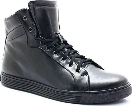 Kent KENT 306S CZARNE - Wysokie buty ze skóry 43