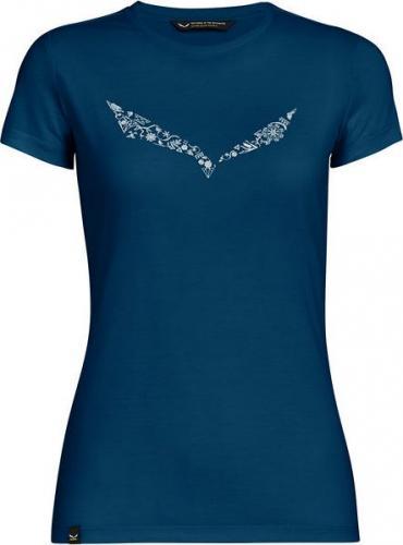 Salewa Koszulka damska Solid Logo Dry poseidon melange r. L