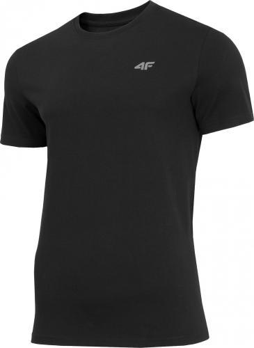 4f Koszulka męska H4Z19-TSM070 czarna r. L