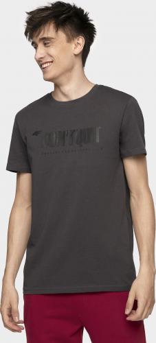 4f Koszulka męska H4Z19-TSM074 grafitowa r. XXL