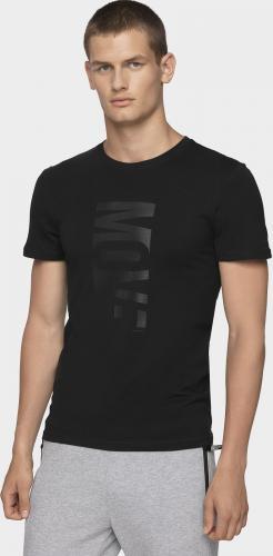 4f Koszulka męska H4Z19-TSM072 czarna r. L
