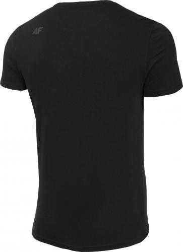 4f Koszulka męska H4Z19-TSM074 czarna r. L
