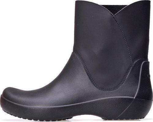 Crocs Kalosze Crocs Rainfloe Bootie Black 203417-001 34-35