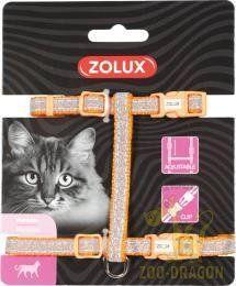 Zolux Szelki nylon regul. SHINY kol. pomarańczowy