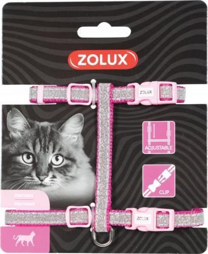 Zolux Szelki nylon regul. SHINY kol. różowy