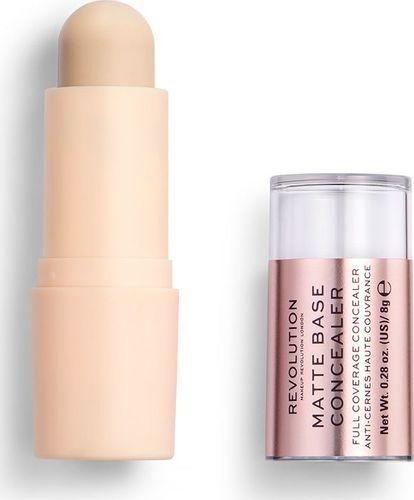 Makeup Revolution Makeup Revolution, korektor w sztyfcie Matte Base Concealer C1, 8 g