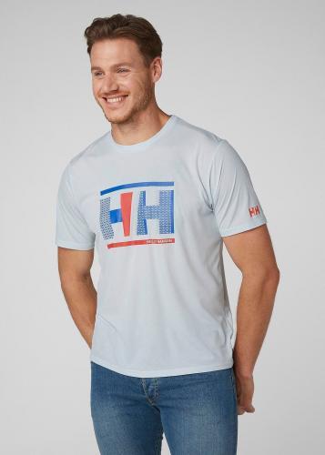 Helly Hansen Koszulka męska Hp Circumnavigation T-Shirt Grey Fog r. L