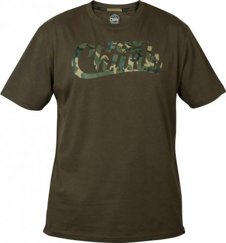 FOX Chunk Khaki/Camo T-Shirt - roz. XXL (CPR1002)