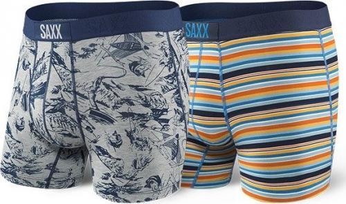 SAXX Bokserki Vibe Boxer 2 Pack fisherman r. S (SXPP2VFIS)