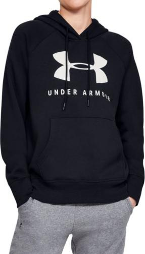 Under Armour Bluza damska Rival Fleece Sportstyle Graphic Hoodie Black/ Graphite r. L (1348550-001)