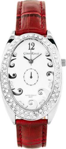 Zegarek Gino Rossi GINO ROSSI - 103A (zg575b) white/silver/red uniwersalny