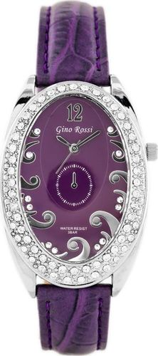 Zegarek Gino Rossi GINO ROSSI - 103A (zg575d) violet/silver uniwersalny