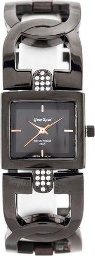 Zegarek Gino Rossi GINO ROSSI - 1428B (zg581d) black uniwersalny
