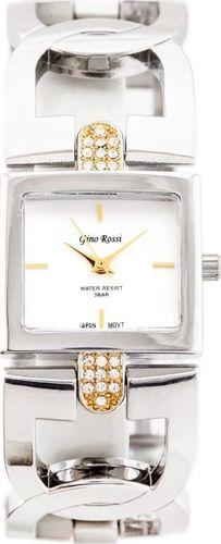 Zegarek Gino Rossi GINO ROSSI - 1428B (zg581a) silver uniwersalny