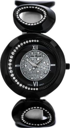 Zegarek Gino Rossi GINO ROSSI - 3042B (zg522a) black/silver uniwersalny