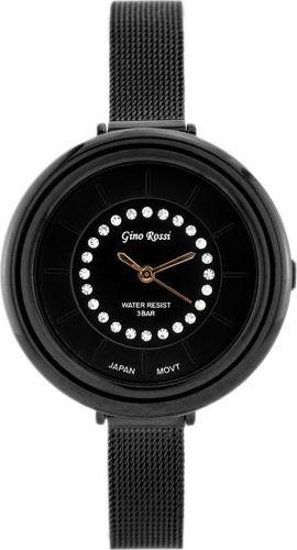 Zegarek Gino Rossi GINO ROSSI - 3327B (zg526b) black/rosegold uniwersalny