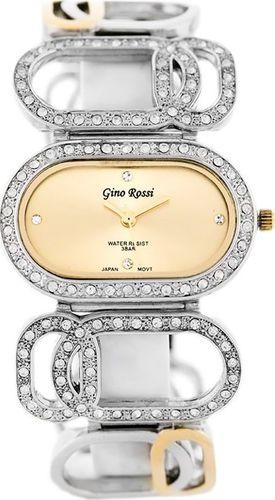 Zegarek Gino Rossi GINO ROSSI - 5504B (zg537b) gold/silver uniwersalny