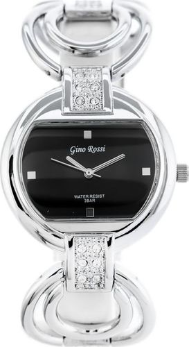 Zegarek Gino Rossi GINO ROSSI - 5658B (zg530a) black/silver uniwersalny