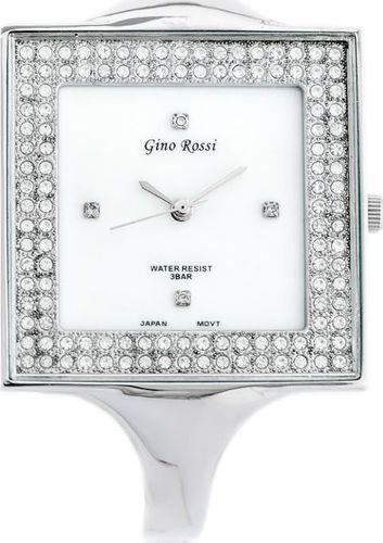 Zegarek Gino Rossi GINO ROSSI - 6392B (zg519a) silver/pearl uniwersalny