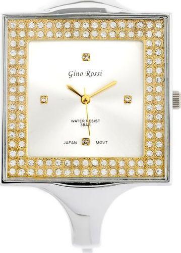 Zegarek Gino Rossi GINO ROSSI - 6392B (zg519c) silver/gold uniwersalny