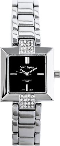 Zegarek Gino Rossi GINO ROSSI - 6574B (zg553a) black/silver uniwersalny