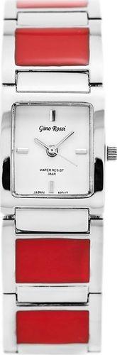 Zegarek Gino Rossi GINO ROSSI - 6598B (zg540d) white/silver/red uniwersalny