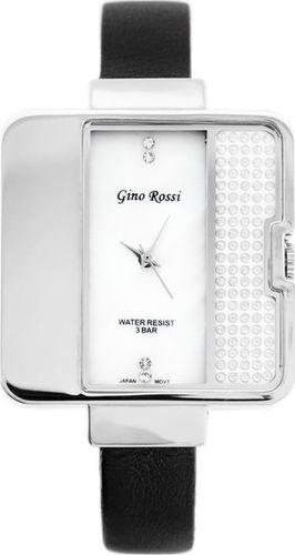 Zegarek Gino Rossi GINO ROSSI - 6632A (zg556a) pearl/silver/black uniwersalny